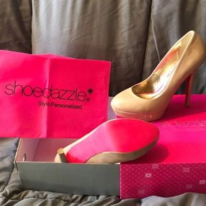 Nude Heels Size 9.5M by Shoedazzle